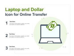 Laptop And Dollar Icon For Online Transfer