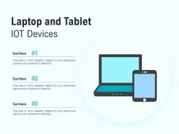 Laptop And Tablet IOT Devices