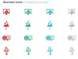 laptop_bar_graph_umbrella_globe_tree_ppt_icons_graphics_Slide02