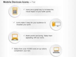 Laptop Computer Mobile Communication Internet Ppt Icons Graphics