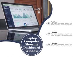 Laptop Computer Showing Dashboard Window