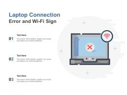 Laptop Connection Error And Wi Fi Sign
