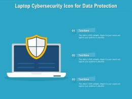 Laptop Cybersecurity Icon For Data Protection