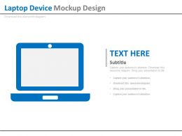 Laptop Device Mock Up Design Flat Powerpoint Design