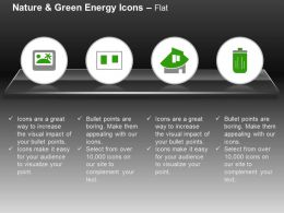 Laptop Home Battery Green Energy Ppt Icons Graphics