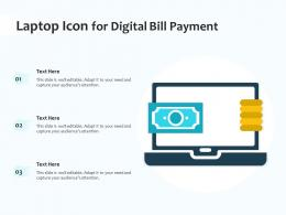 Laptop Icon For Digital Bill Payment