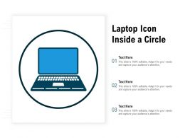 Laptop Icon Inside A Circle