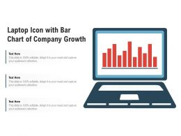 Laptop Icon With Bar Chart Of Company Growth