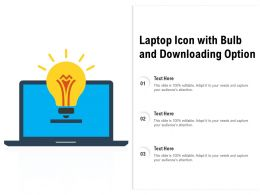 Laptop Icon With Bulb And Downloading Option