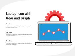 Laptop Icon With Gear And Graph