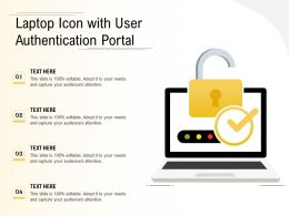 Laptop Icon With User Authentication Portal