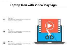 Laptop Icon With Video Play Sign