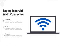 Laptop Icon With Wi Fi Connection
