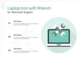 Laptop Icon With Wrench For Technical Support