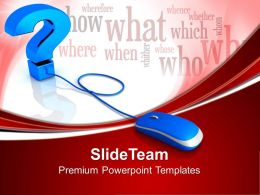 Laptop Image Question Internet Powerpoint Templates And Themes Business Flow Charts