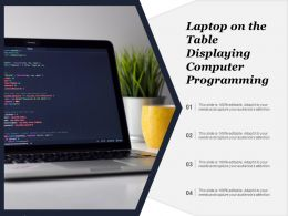 Laptop On The Table Displaying Computer Programming