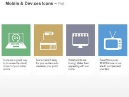 Laptop Set Top Box Television Technology Ppt Icons Graphics