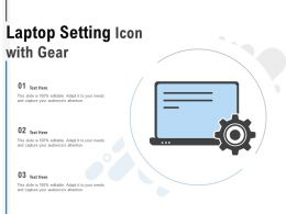 Laptop Setting Icon With Gear