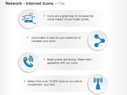Laptop Share Phone Wifi Antenna Ppt Icons Graphics
