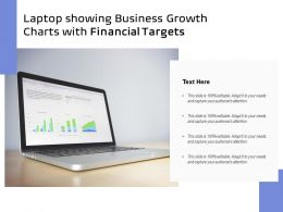 Laptop Showing Business Growth Charts With Financial Targets
