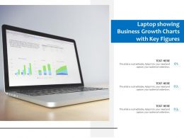 Laptop Showing Business Growth Charts With Key Figures