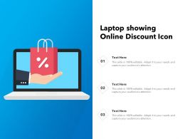 Laptop Showing Online Discount Icon