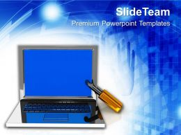 Laptop The Concept Of Information Security Powerpoint Templates Ppt Themes And Graphics
