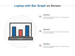 Laptop With Bar Graph On Screen