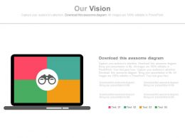 Laptop With Future Vision Analysis Powerpoint Slides