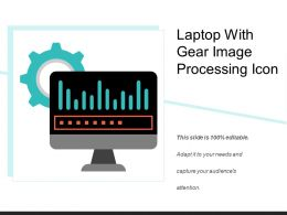 Laptop With Gear Image Processing Icon