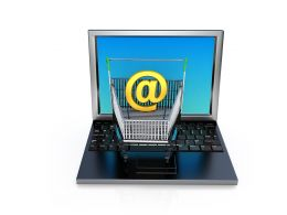 Laptop With Internet Graphic Stock Photo