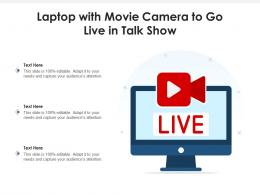Laptop With Movie Camera To Go Live In Talk Show