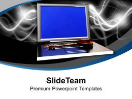 Laptop With Security Key Savings Powerpoint Templates Ppt Themes And Graphics 0213
