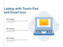 Laptop With Touch Pad And Email Icon