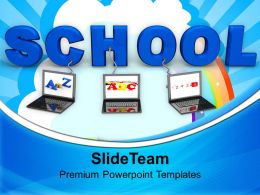 laptops wired to school children powerpoint templates ppt themes and graphics 0213