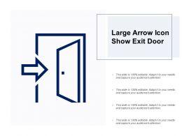 Large Arrow Icon Show Exit Door
