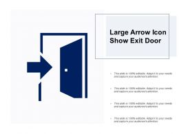 Large Arrow Icon Show Exit Door