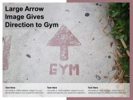 Large Arrow Image Gives Direction To Gym