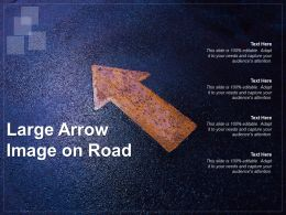 Large Arrow Image On Road