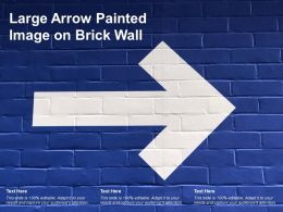 Large Arrow Painted Image On Brick Wall