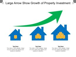 Large Arrow Show Growth Of Property Investment