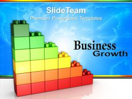 Large Building Blocks Powerpoint Templates Lego Graph Growth Business Ppt Themes