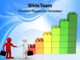 Large Building Blocks Powerpoint Templates Lego Graph Success Business Ppt Slides