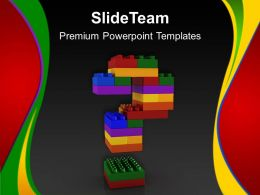 Large Building Blocks Powerpoint Templates Lego Question Signs Strategy Ppt Themes