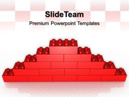 Large Building Blocks Powerpoint Templates Lego Wall Construction Leadership Ppt Slide