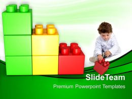 Large Building Blocks Powerpoint Templates Play With Lego Baby Success Ppt Slide