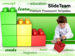 Large Building Blocks Templates Play And Learn Concept Children Growth Ppt Slide Powerpoint