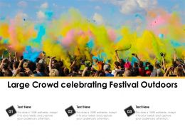 Large Crowd Celebrating Festival Outdoors