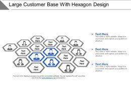 Large Customer Base With Hexagon Design