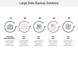 Large Data Backup Solutions Ppt Powerpoint Presentation Infographics Model Cpb